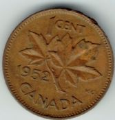 Canada, George VI, One Cent 1952, VF, WB7152